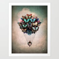 butterfly Art Prints featuring Dream On by Christian Schloe