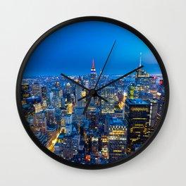 Manhattan - View from Top of the Rock - Rockefeller Center - New York Wall Clock