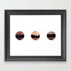 Lake District Circles Framed Art Print