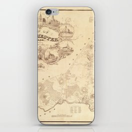 Map Of Dorchester 1850 iPhone Skin