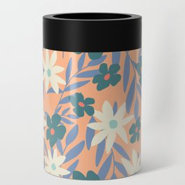 Just Peachy Floral Can Cooler