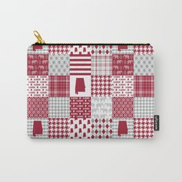 Alabama bama crimson tide cheater quilt state college university pattern footabll Carry-All Pouch