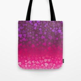 Purple Pink Hearts Tote Bag