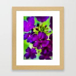 Psychedelic Purple Framed Art Print
