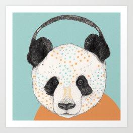 Polkadot Panda Art Print
