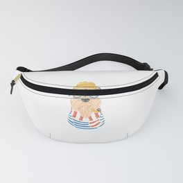 Sailor Schnauzer Smoking A Pipe - Schnauzer With Glasses Fanny Pack