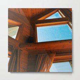 Cabin Interior Windows Metal Print