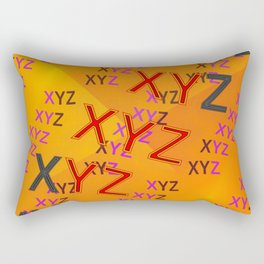 XYZ - pattern Rectangular Pillow