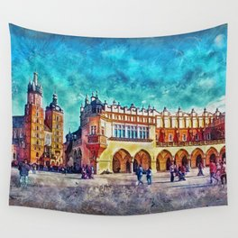 Cracow Main Square Wall Tapestry