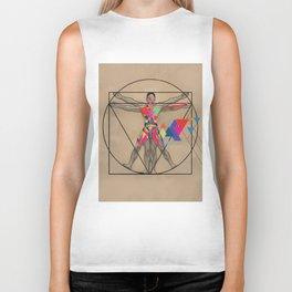 Vitruvian Man and a Burst of Color Biker Tank