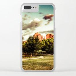 Southwest Chimney Rock Vortex Sedona Arizona Clear iPhone Case