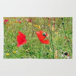 three flowers/Drei Blüten Rug