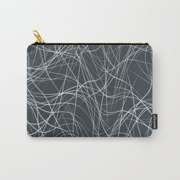 FYKE white string design on dark teal grey background Carry-All Pouch