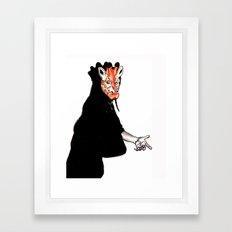Giraffe Mask Framed Art Print