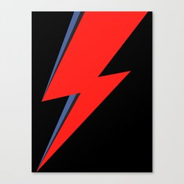 David Bowie Lightning bolt Canvas Print