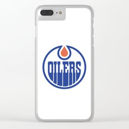 Oilers Logo Clear iPhone Case