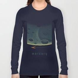 MERCURY Space Tourism Travel Poster Long Sleeve T-shirt