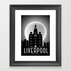 Night at Liverpool Poster Framed Art Print