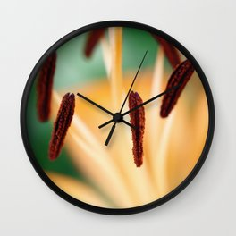 Lily Macro Photo Wall Clock