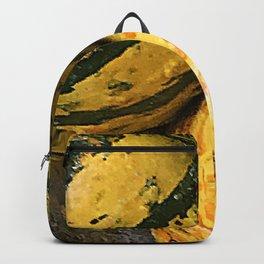 Assorted Autumn Gourds Avant-Garde Macro Photo Backpack