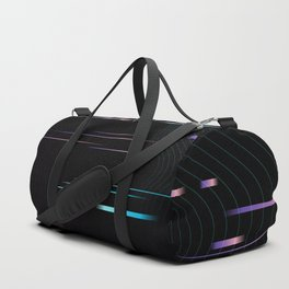 Universe Portal Glitch Synthwave Lines Duffle Bag