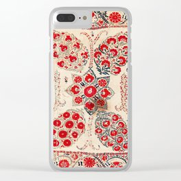 Bokhara Suzani Southwest Uzbekistan Embroidery Clear iPhone Case