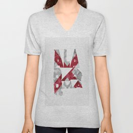 Alabama Typographic Flag Map Unisex V-Neck
