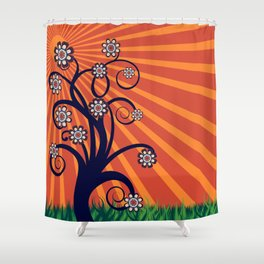 Quirky Blossom Tree Shower Curtain