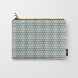 Robin's Egg & Lavender Rounded Squares Carry-All Pouch