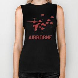Airborne Jump (Airborne Red) Biker Tank