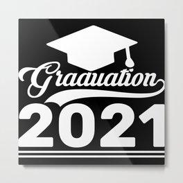 Graduation 2021 gift retro fonts gift Metal Print