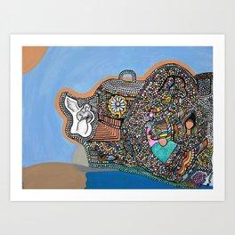 Bubble Boat Art Print