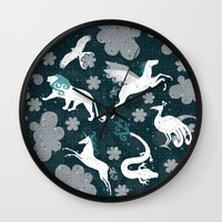 constellation Wall Clocks featuring  Constellation  by Liluna
