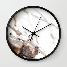 Drifted Palm Wall Clock