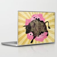 bull Laptop & iPad Skins featuring Bull by Jean-Michel Lopez