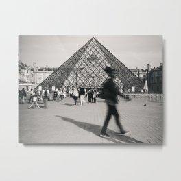 Louvre Blur Metal Print
