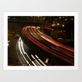 Brooklyn: BQE at Night Art Print