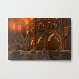 Dinosaur battle Metal Print