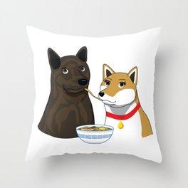 Ramen Date Throw Pillow