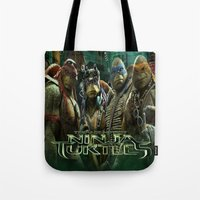 ninja turtle Tote Bags featuring teen age,mutant,ninja turtle by store2u