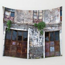 Old Sicilian facade of Taormina Wall Tapestry