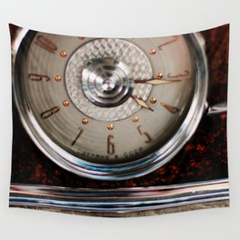 a clock Wall Tapestry