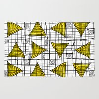 yellow pattern Area & Throw Rugs featuring Yellow by Ivano Nazeri