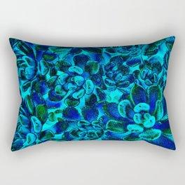Floral tribute [blue velvet] Rectangular Pillow