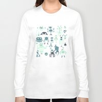 monsters Long Sleeve T-shirts featuring Monsters! by Fran Court