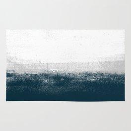 Ocean No. 1 - Minimal ocean sea ombre design  Rug