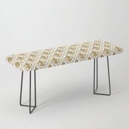 Gold Fleur-de-Lis Pattern Bench