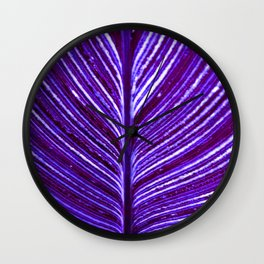 Feather Leaf in Purple Wall Clock