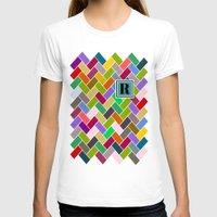 monogram T-shirts featuring R Monogram by mailboxdisco