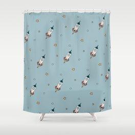 Space cartoon pattern Shower Curtain